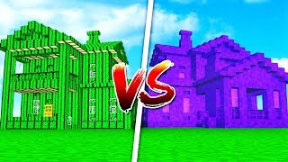 CACTUS HOUSE vs PORTAL HOUSE IN MINECRAFT!