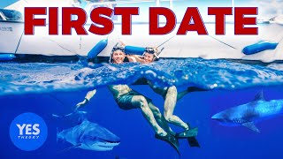 THE WORLD'S MOST DARING TINDER DATE (Cage-less Shark Diving)