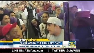 'Lion King' In-Flight Performance Goes Viral
