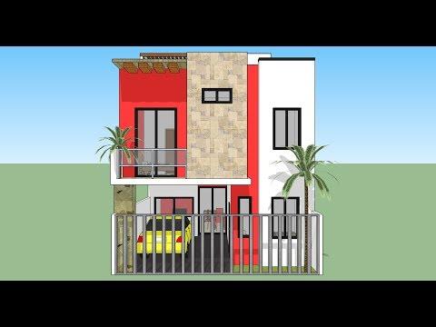 Como dise ar una casa de 7x15 mts de terreno musica movil for Casa moderna minimalista 6 00 m x 12 50 m 220 m2