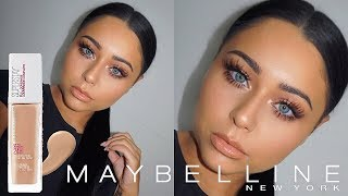 NEW Maybelline Super Stay Full Coverage Foundation Review + Wear Test