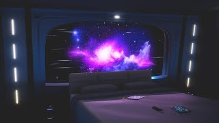 Spaceship Sleeping Quarters   Nebula Cruise Relaxing Ambience 1 Hour
