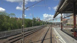 Cab ride Stockholm - Västerås - Örebro - Hallsberg - Göteborg, part 1 Norra bantorget - Västerås