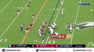 2019 American Football Highlights - Maryland vs Temple