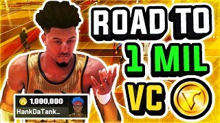 ROAD TO 1 MILLION VC w/ BEST PLAYSHARP IN NBA 2K19 AT THE STAGE