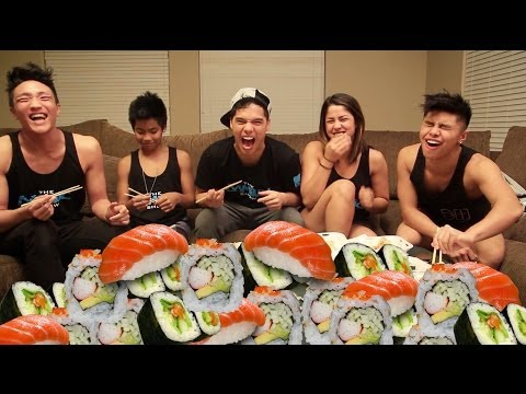 100 Pieces of Sushi in 10 Min CHALLENGE!
