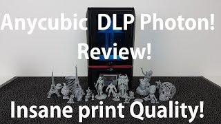 Anycubic Photon DLP 3D printer Review - insane print quality!
