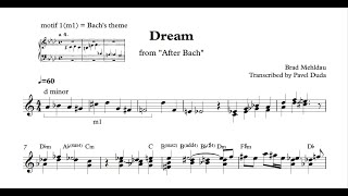 Brad Mehldau - Dream (Transcription + Analysis)