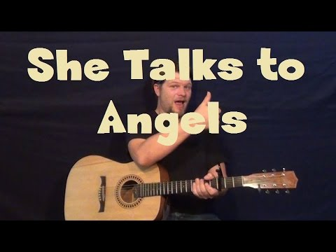 how to play she talks to angels on guitar