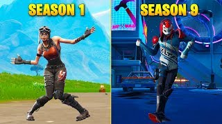 Evolution of Season Dances in Fortnite (Season 1 - Season 9)