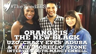 Orange Is The New Black's Uzo Aduba & Yael Stone with Marc Fennell