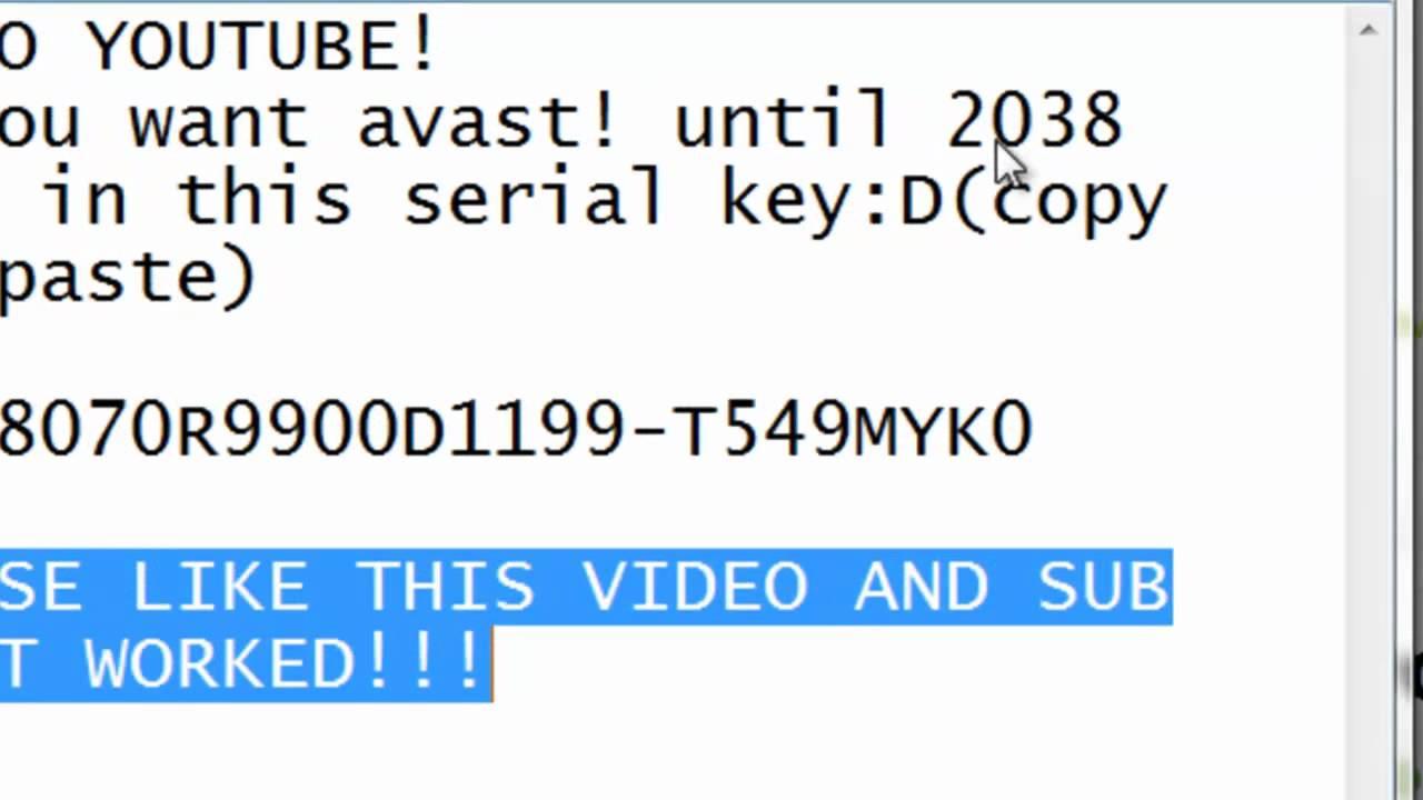 free avast antivirus license key