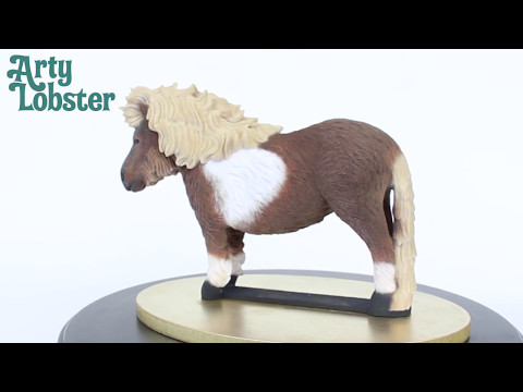 Shetland Pony Sculpture by Arty Lobster