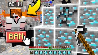 Admin caught me XRAY hacking in Minecraft.. (BANNED)
