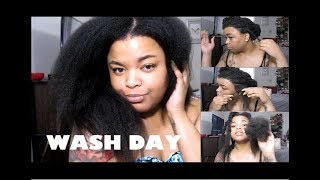 WEAVE TAKE DOWN | 3 MONTH OLD BRAIDS | WASH DAY START TO FINISH | 4C HAIR