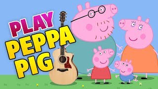 Peppa Pig Guitar Cover (Tutorial, Lesson, Tab, Easy guitar for kids)