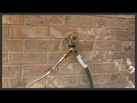 How To Connect A Pvc Pipe To An Outdoor Tap Youtube