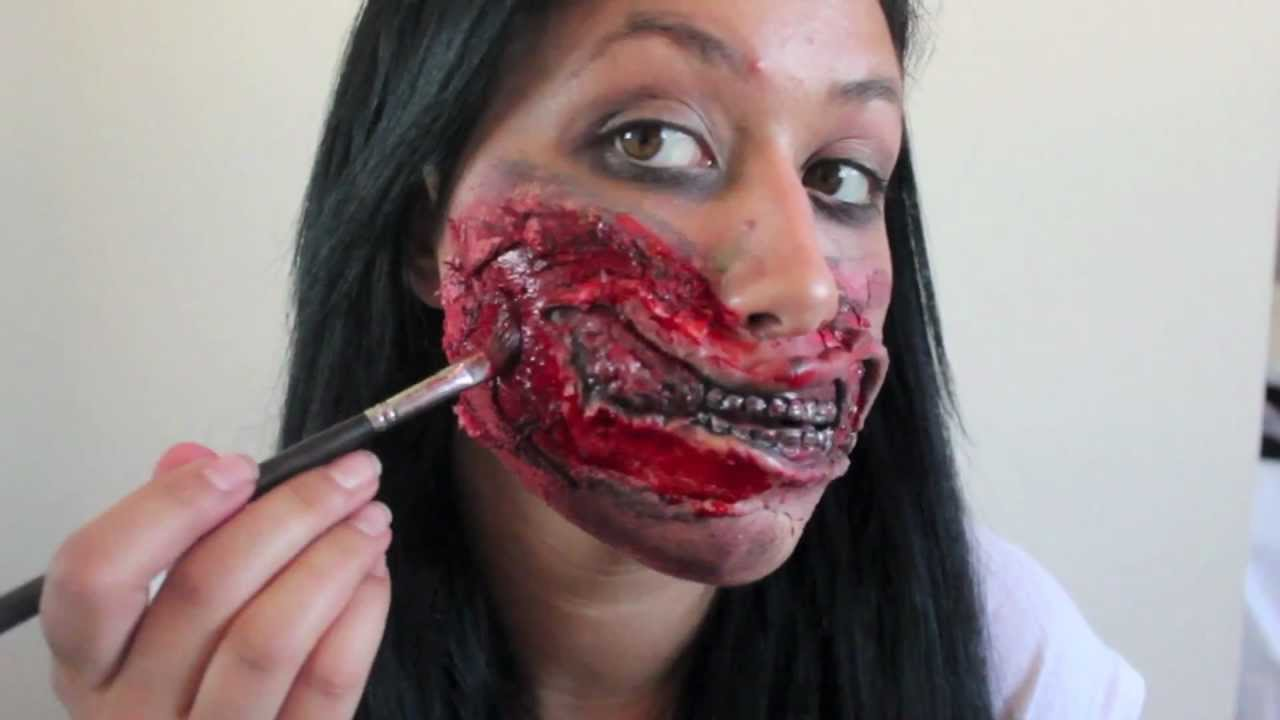 Zombie Mouth Halloween Makeup Tutorial The Walking Dead