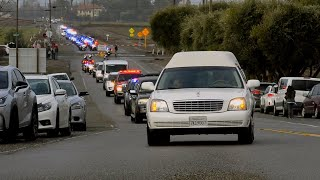 Watch the motorcade heading to The Pavilion in Davis for fallen Officer Natalie Corona