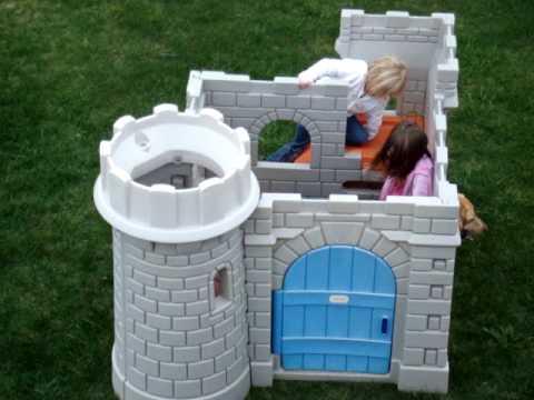 Little Tykes Play Castle Dog Gaurding It Youtube