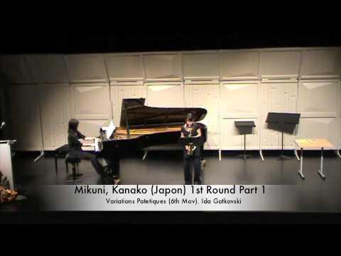 Mikuni, Kanako (Japon) 1st Round Part 1