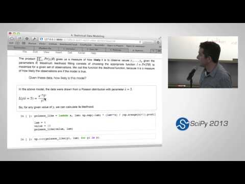 Image from Statistical Data Analysis in Python, SciPy2013 Tutorial, Part 4 of 4