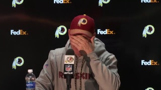 #Redskins head coach Jay Gruden live at the podium after win vs. Cardinals. #HTTR