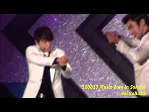 【Donghae Fancam】120813 Music Core in Sokcho ~SPY~ Super junior