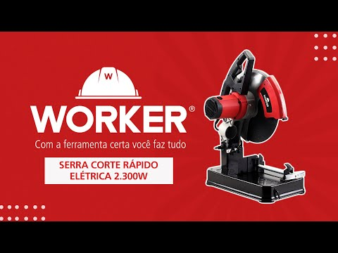"Serra Corte Rápido Elétrica 2300W 14"" 355Mm Worker - 127V - Vídeo explicativo"