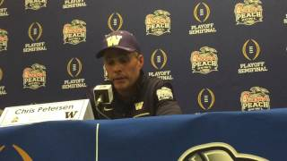 Chris Petersen discusses loss to Alabama in Peach Bowl