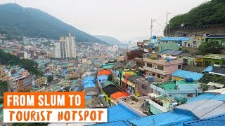 This Korean Slum in Busan Turned into a Tourist Hotspot ♦ Gamcheon Culture Village