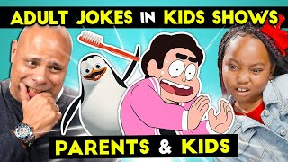 Parents React To Kids React To Funny Adult Jokes In Kids TV Shows
