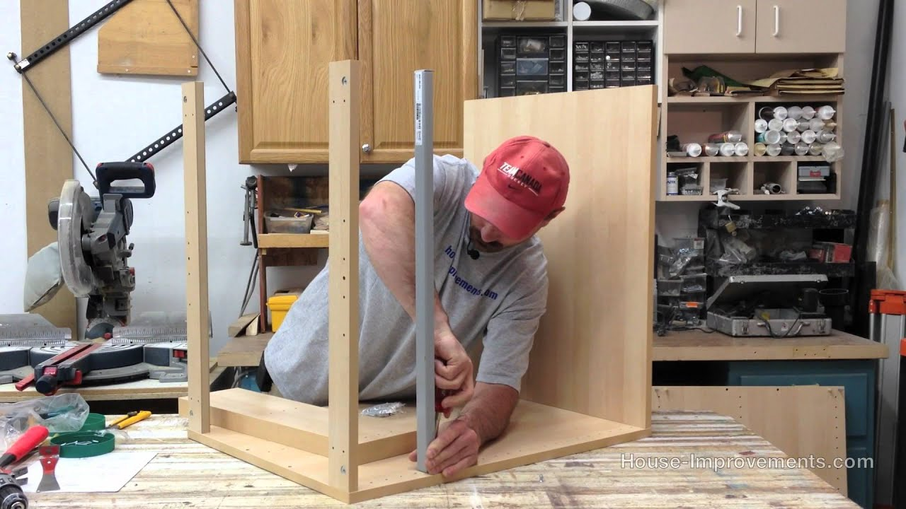 kitchen cabinets installation video how to assemble a base cabinet with drawers 20623