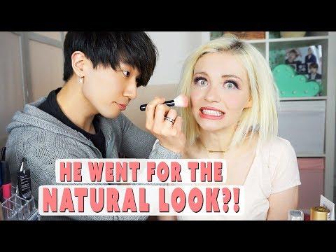 Korean Boyfriend Does My Makeup