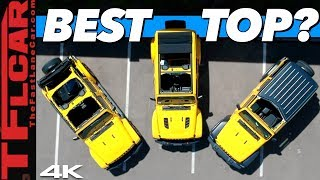 We Compare the 3 Different Jeep Wrangler Factory Tops To See Which One is Best. The Winner is..