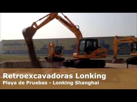 Retroexcavadora Lonking en Accion