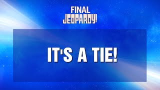 Tiebreaker Final Jeopardy! January 22, 2021 | JEOPARDY!