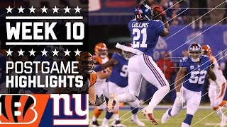 Giants vs. Bengals | NFL Week 10 Game Highlights