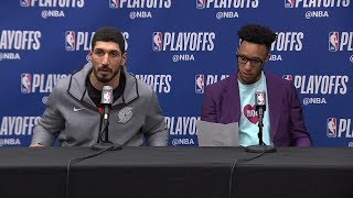 Enes Kanter & Evan Turner Postgame Interview - Game 7 | Nuggets vs Blazers | 2019 NBA Playoffs
