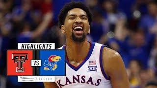No. 16 Texas Tech vs. No. 11 Kansas Basketball Highlights (2018-19) | Stadium