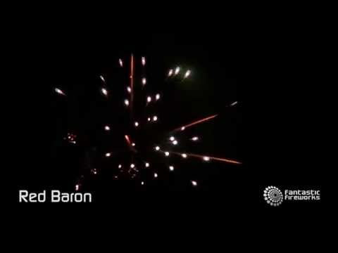 Fantastic Fireworks Red Baron - 25 shot barrage