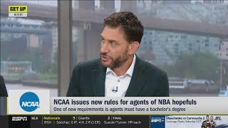 "Mike Greenberg SURPRISED by LeBron James calls the new rules of NCAA the ""Rick Paul Rule"""