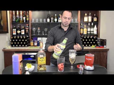 Frozen Strawberry Margarita Recipe | Party Bullet Drink Recipes