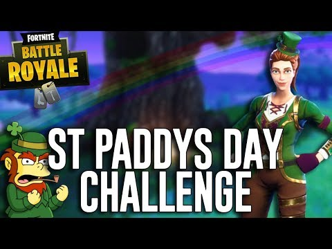 St Paddy's Day Challenge! All Green Everything! - Fortnite Battle Royale Gameplay - Ninja