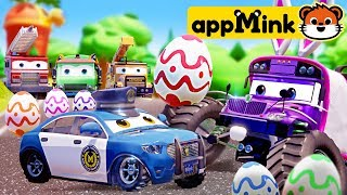 #appMink Easter Egg Hunting with Evil Bus, Amublance and Police Car