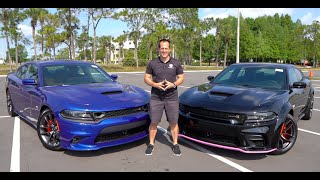 How is a 2020 Dodge Charger Scat Pack DIFFERENT from the Scat Pack Widebody?
