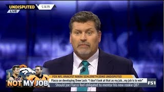 UNDISPUTED | Mark Schlereth debate Should Flacco obligated to mentor his new rookie QB?