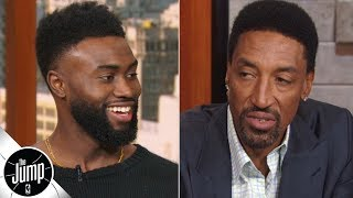 Jaylen Brown asks Scottie Pippen what it takes to win a championship   The Jump