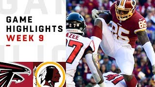 Falcons vs. Redskins Week 9 Highlights | NFL 2018