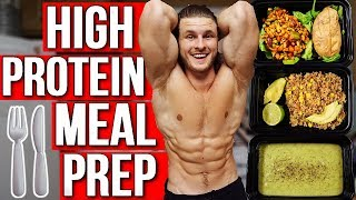 VEGAN MEAL PREP FOR MUSCLE | EASY HIGH PROTEIN MEALS